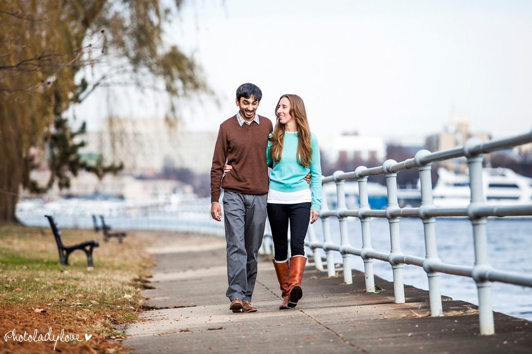 engagement, e session, Hains Point, Washington DC