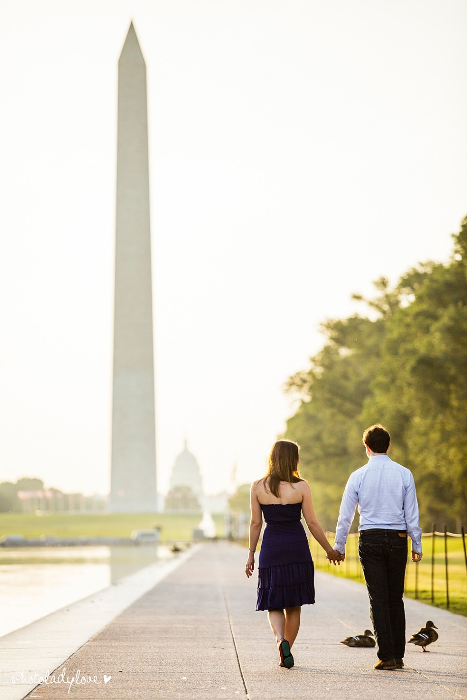 sunrise, engagement session, Lincoln Memorial, Washington, DC